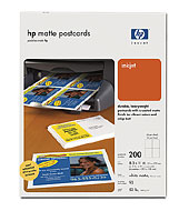 HP Matte Postcards-A size