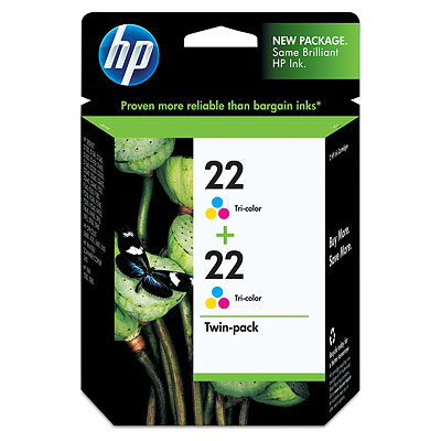 HP 22 2-pack Tri-color Inkjet Print Cartridges