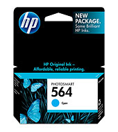 HP 564 Cyan Ink Cartridge - HP Inkjet Printer Cartridges and Ink Supplies