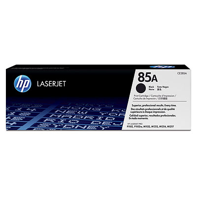 HP 85A Black Original LaserJet Toner Cartridge CE285A