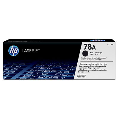 HP 78A Black Original LaserJet Toner Cartridge CE278A