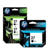 HP 27 Inkjet Print Cartridges - Ink Supplies