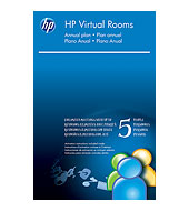 HP Virtual Rooms (up to 5 people in one meeting) License WF722T