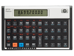 Calculadora financiera HP 12c Platinum