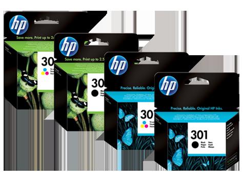 Cartucho original de tinta negra de alto rendimiento HP 301XL