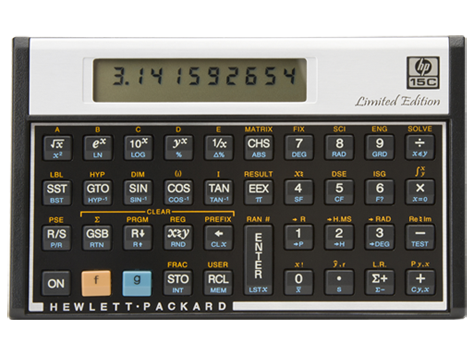 Calculatrice scientifique HP 15c