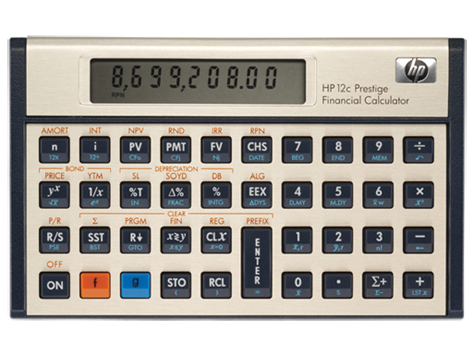 Calculadora financiera HP 12c Prestige