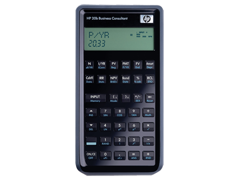 Kalkulator HP 20b Business Consultant Financial Calculator
