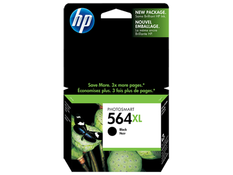 HP 564XL High Yield Black Photosmart Original Ink Cartridge