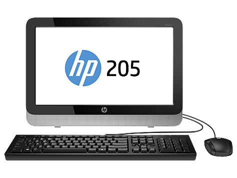 PC HP 205 G2 de 18,5 pulgadas, no táctil, All-in-One