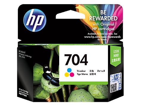 HP 704 Tri-color Original Ink Advantage Cartridge