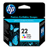 Cartucho original de tinta tricolor HP 22