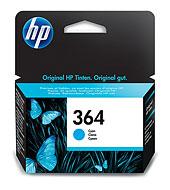 HP 364 ciánkék tintapatron eredeti CB318EE Deskjet 3070, Photosmart D5445, D5460, D7560, C5380, C6380, B8550, Premium Fax, B109A, B109N, B209A, C309G, B010a, B110a, B210a, C310a, C410b, 5510, 6510, 7510 nyomtatókhoz (300 old.)