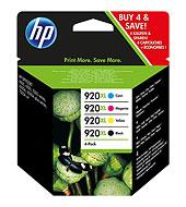 HP 920XL C2N92AE No 920XL fekete/ciánkék/bíbor/sárga Officejet 6000 6500 7000 7500 tintapatron kombinált csomag (1200/3*700 old.)