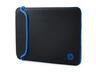HP V5C21AA 29,46 cm-es (11,6 hüvelykes) fekete/kék neoprén tok