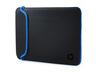 HP V5C31AA 39,62 cm-es (15,6 hüvelykes) fekete/kék neoprén tok -