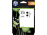 HP 711 fekete eredeti tintapatron dupla csomag P2V31A T120 T125 T130 T520 T525 T530 2x80 ml