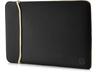 HP 2UF60AA 39,62 cm-es (15,6 hüvelykes) neoprén kifordítható tok (fekete/arany)