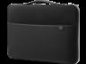 HP 3XD36AA 39,62 cm-es (15,6 hüvelykes) hordozótok, fekete/ezüst