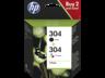 HP 304 fekete/háromszínű tintapatron eredeti kombinált csomag 3JB05AE (120/100 old.)