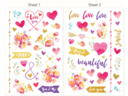 HP 6RW45A Moment Makers Clear Love Stickers