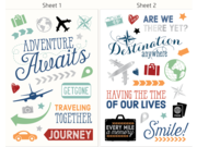 HP 6RW46A Moment Makers Clear Travel Stickers