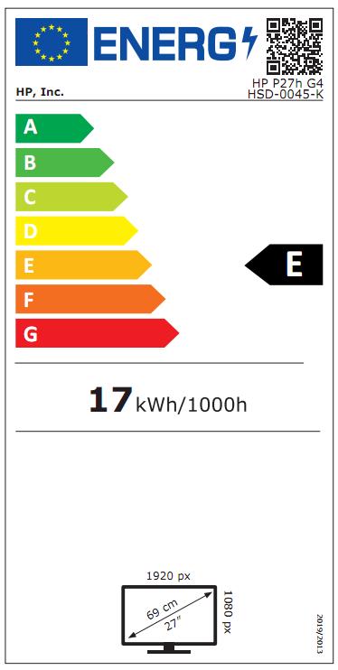 Energy Label Product Fiche (as per EC 1062/2010)